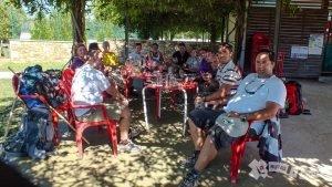 Con el grupo en Sigüeiro