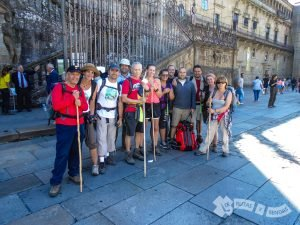 El grupo en la Plaza del Obradoiro