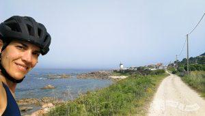 Molino de viento en Camping O Muiño (Pedra Rubia)