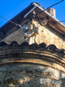 Detalle en los restos del Palacio de los Marqueses de Prado