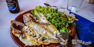 Menú del Peregrino en el Restaurante La Playa