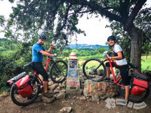 Mojón kilométrico 100 a Santiago