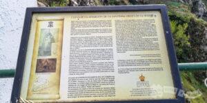 Panel interpretativo del hallazgo de la Virgen