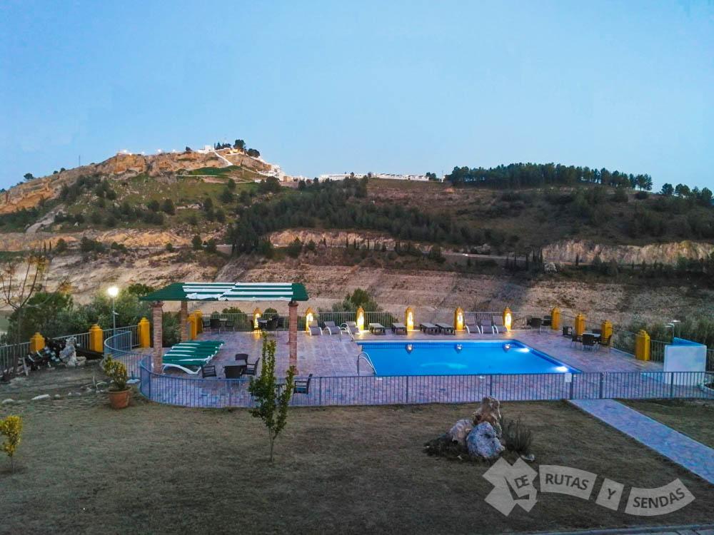 Vistas de Iznájar desde El Caserío de Iznájar