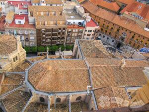 Vistas de la cubierta de la Catedral
