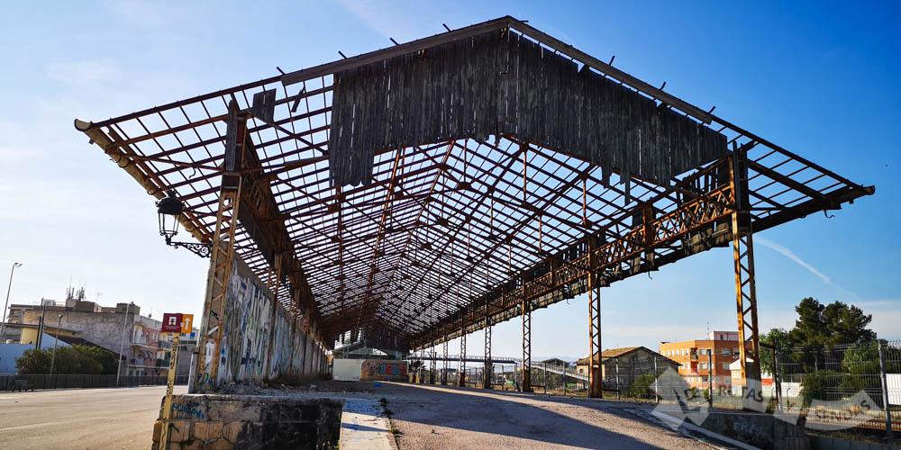 Antiguas instalaciones de la Estación de Alguazas