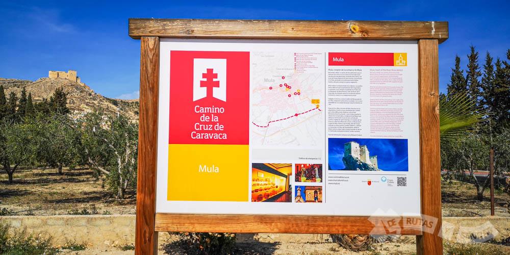 Panel informativo en Mula y Castillo de los Vélez