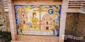 Azulejo conmemorario de l Jacobeo 2000