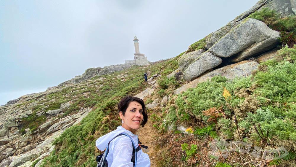 Abandonando el Faro de Punta Nariga